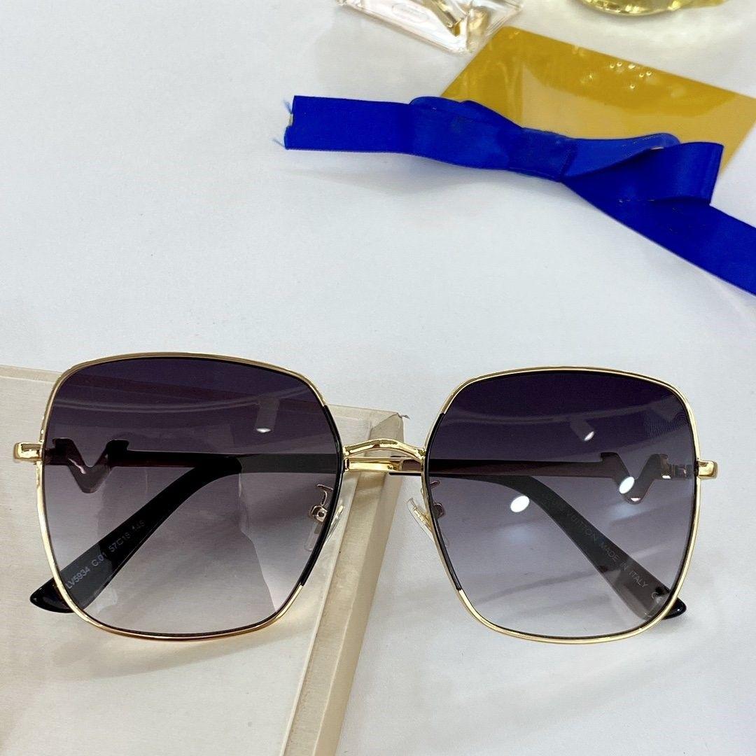 5934 Brand Design Lunettes de soleil femmes hommes design de la marque de bonne qualité métal mode des lunettes de soleil surdimensionnées vintage UV400 masculin féminin