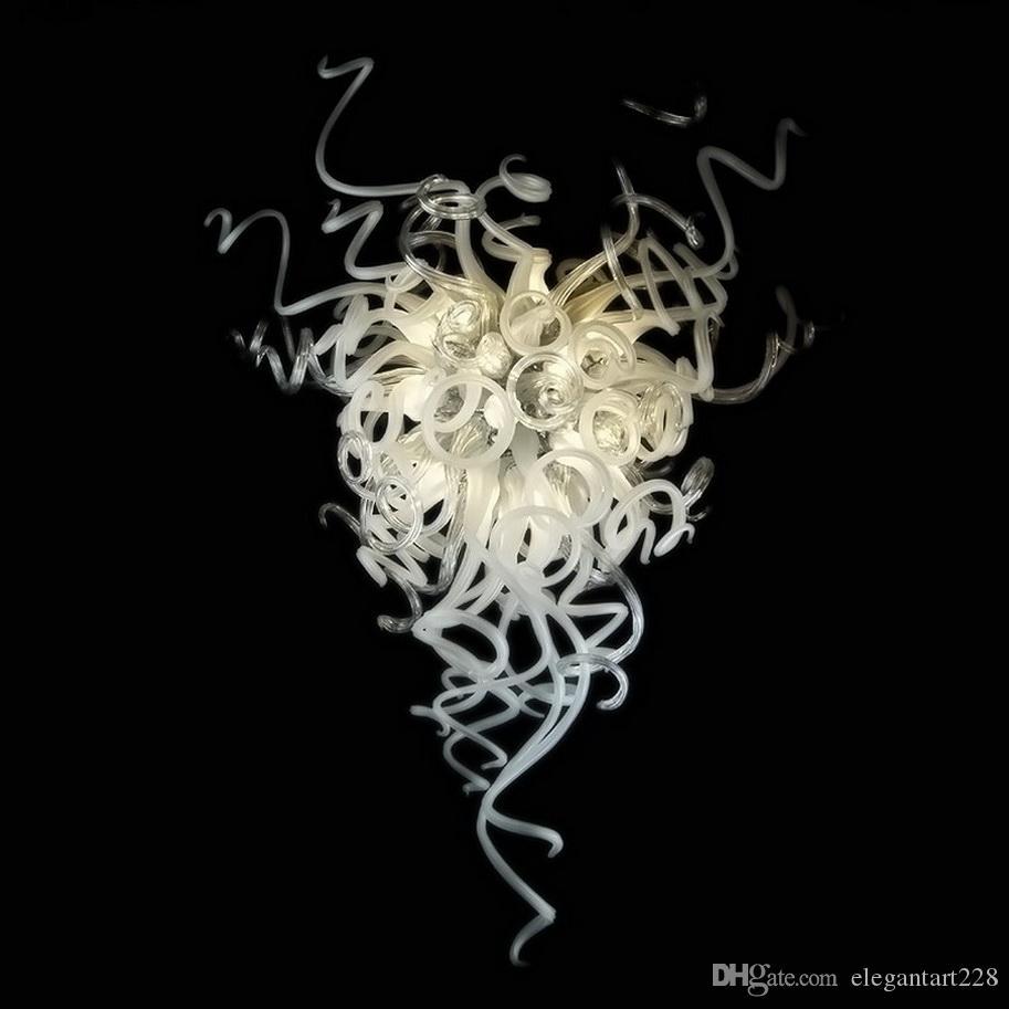Уникальный муранского стекла хрустальные люстры освещение Энергосберегающие Винтажная висячие Светодиодные лампы Люстра для украшения дома