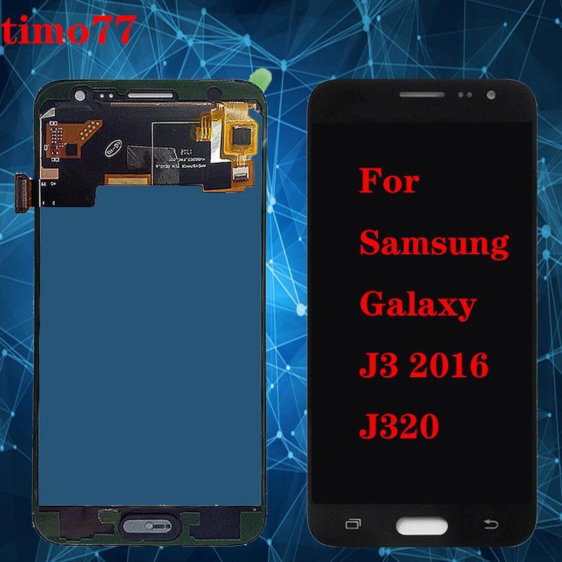 D'origine pour Samsung 2016 J320F J320M J3 J320Y J320 pleine Lcd Affichage de l'Assemblée de l'écran tactile Digitizer Complete Des outils gratuits DHL