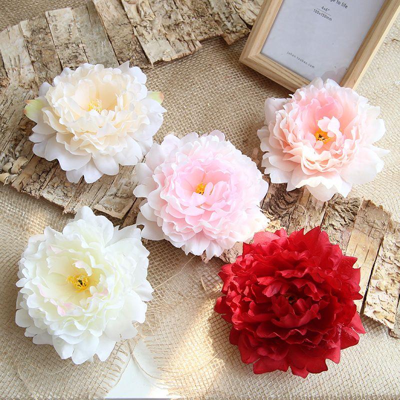 Bella seta artificiale Peony delle teste di fiore della decorazione per feste di nozze decorato la parete falsificazione fiore testa decorazioni per la casa