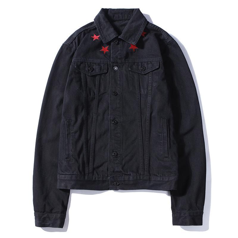 Sıcak Satış Lüks Tasarımcı Marka ceketler Mens Womens Nakış Yıldız Denim Ceket Hip Hop Streetwear En Quailty Outerwears Coats B101766V
