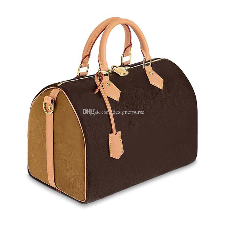 2019 Yeni orijinal yüksek kalite sığır derisi hızlı 25 cm 30 cm klasik çiçek lüks tasarımcı çanta kadın çanta bayan kılıf yastık çanta