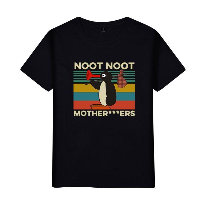 Pingu Meme MENS maglietta nera di alta qualità Tee Shirt