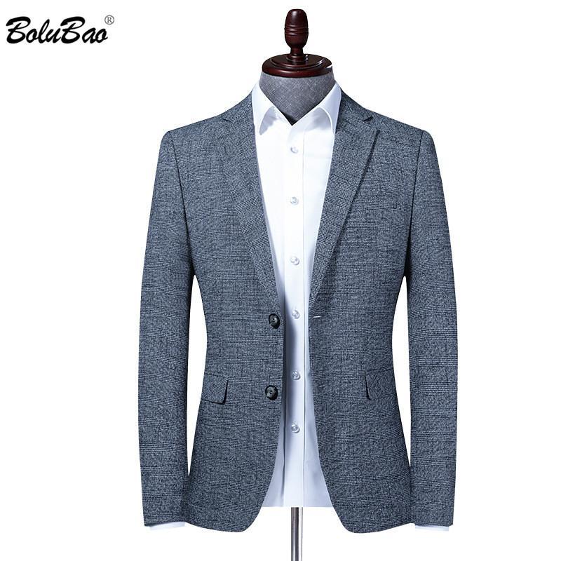 BOLUBAO Men Blazer Slim Fit Weddingr Prom Men's Suit Fashion High Quality Brand Business Tuxedo Male Dress Blazers
