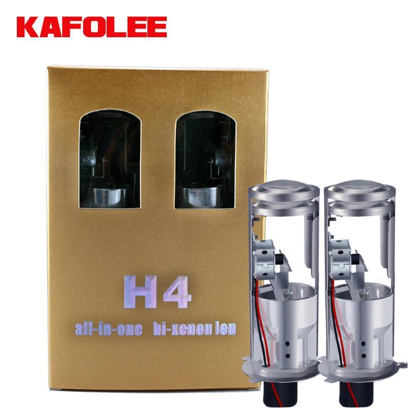 2 قطعة السيارات العلوي لمبات HID H4 مرحبا لو شعاع زينون ميني بروجكتور مزدوج عدسة السوبر مشرق LHD RHD 12V 6000K 4300K 8000K 55W