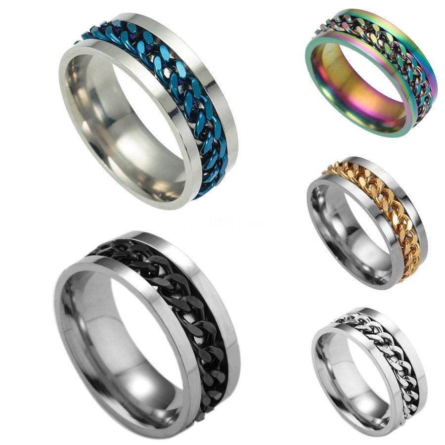 Presentes Homens partido cacana delicado oco Elemento Para anel de ouro Bohemian do casamento cadeia de aço inoxidável # 564