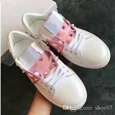 2019 Zapatos casuales Zapatillas de deporte de la marca Zapatillas de deporte de alta calidad TOP-TOP Zapatos deportivos con cordones de la mejor calidad Tamaño: 35-44 con caja DHL libre