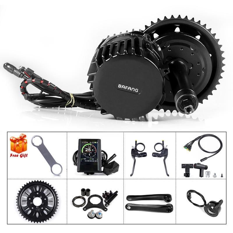 Bafang BBSHD 48v 1000w 100mm 850C Display With Brake Sensor Motor Kit Electric Motor Bicycle Middle Drive Conversion Kit Electric Motor Bike