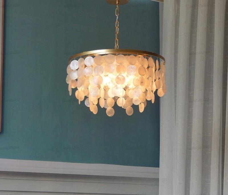 Modern minimalist European living room American Nordic ceiling lamp shell bedroom lamp dining table study lamp LLFA