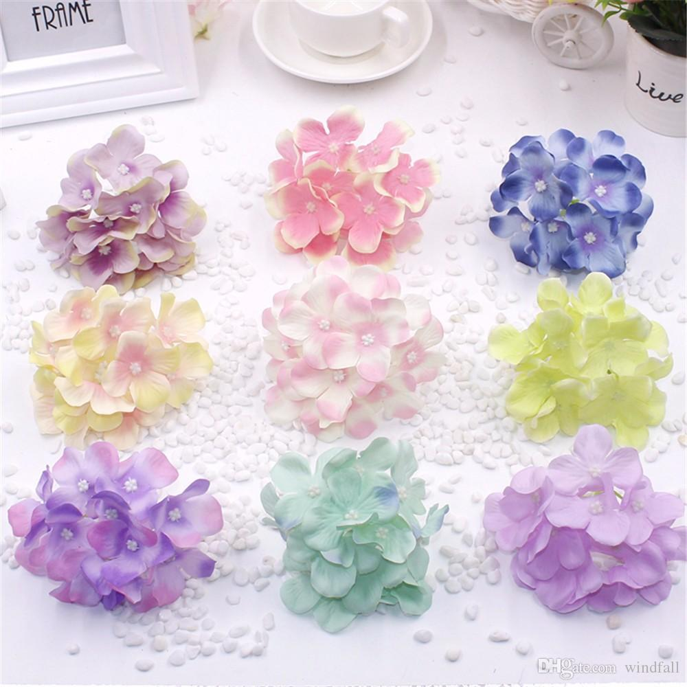 2020 Silk Decorative Hydrangea Heads Artificial Simulation Diy