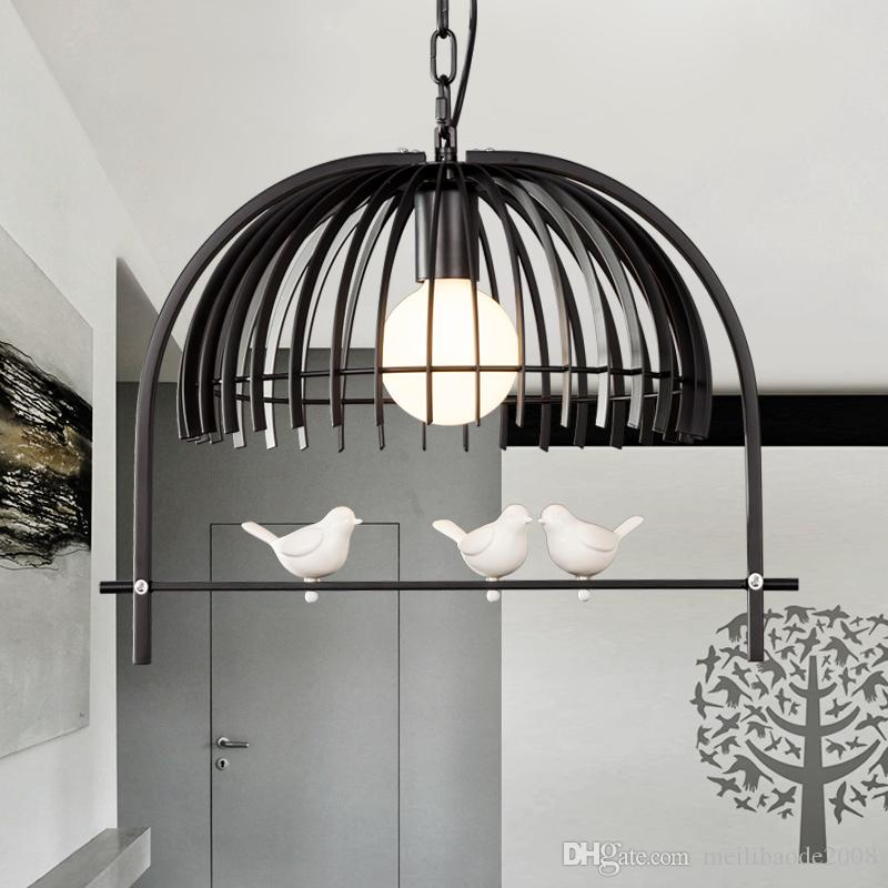 Quarto sala de jantar café bar restaurante luminária corredor país da América MYY gaiola de pássaro Candelabro