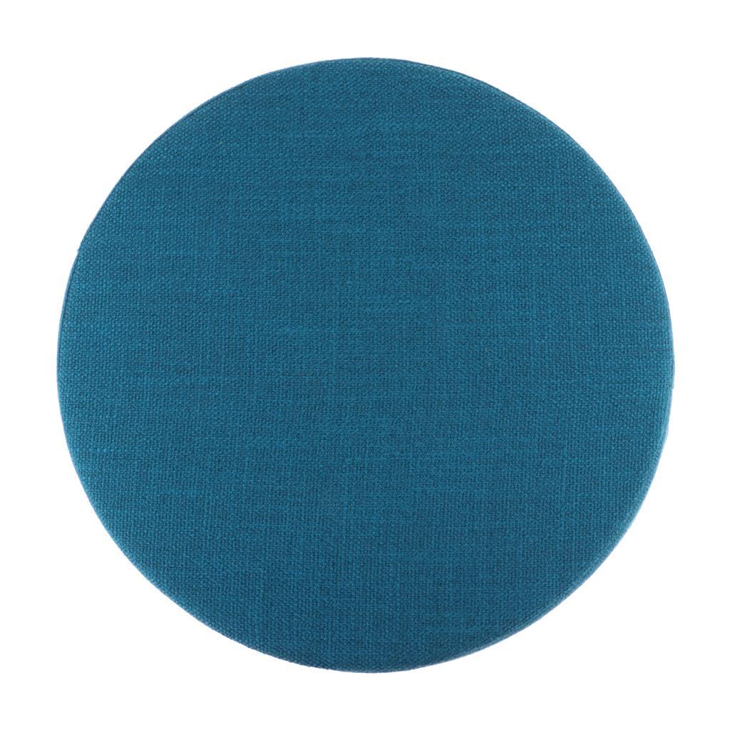 Cojín redonda Yoga Meditación almohada rellena con conservación del calor EPE, con cremallera cubierta de lino, lavable a máquina