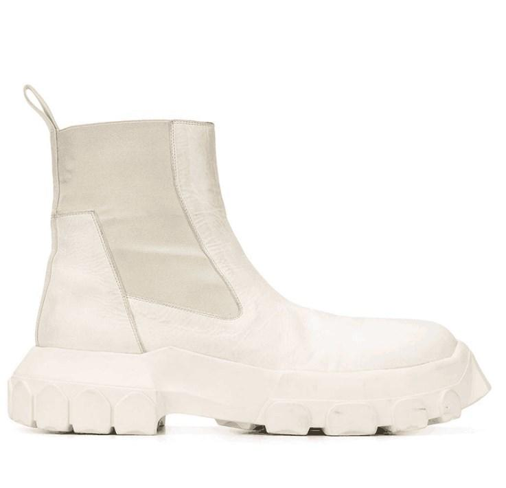 Il fondo spestito di cuoio genuino da uomo alto alto è aumentato di Martin Boots uomini e donne personalità più stivali a maniche corte in velluto