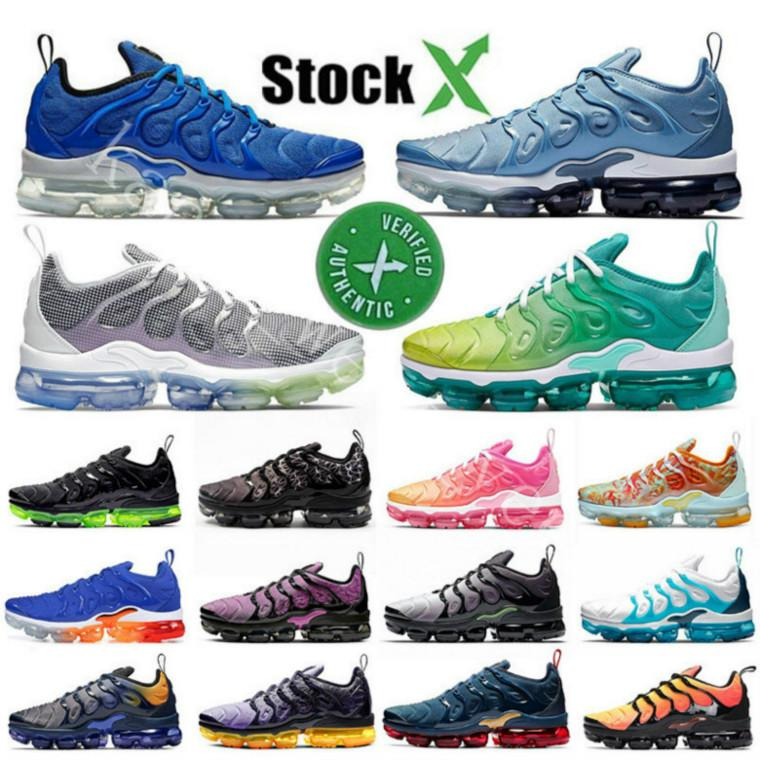 20NEW Stock X Sliver Patterns USA Tn Plus Mens Running Shoes Persian Violet Midnight Navy Game Royal Triple Women Designer Sneakers Trainers