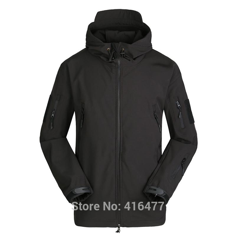 Men Soft Shell TAD SharkSkin Waterproof Tactical Jacket Hoodie Coat