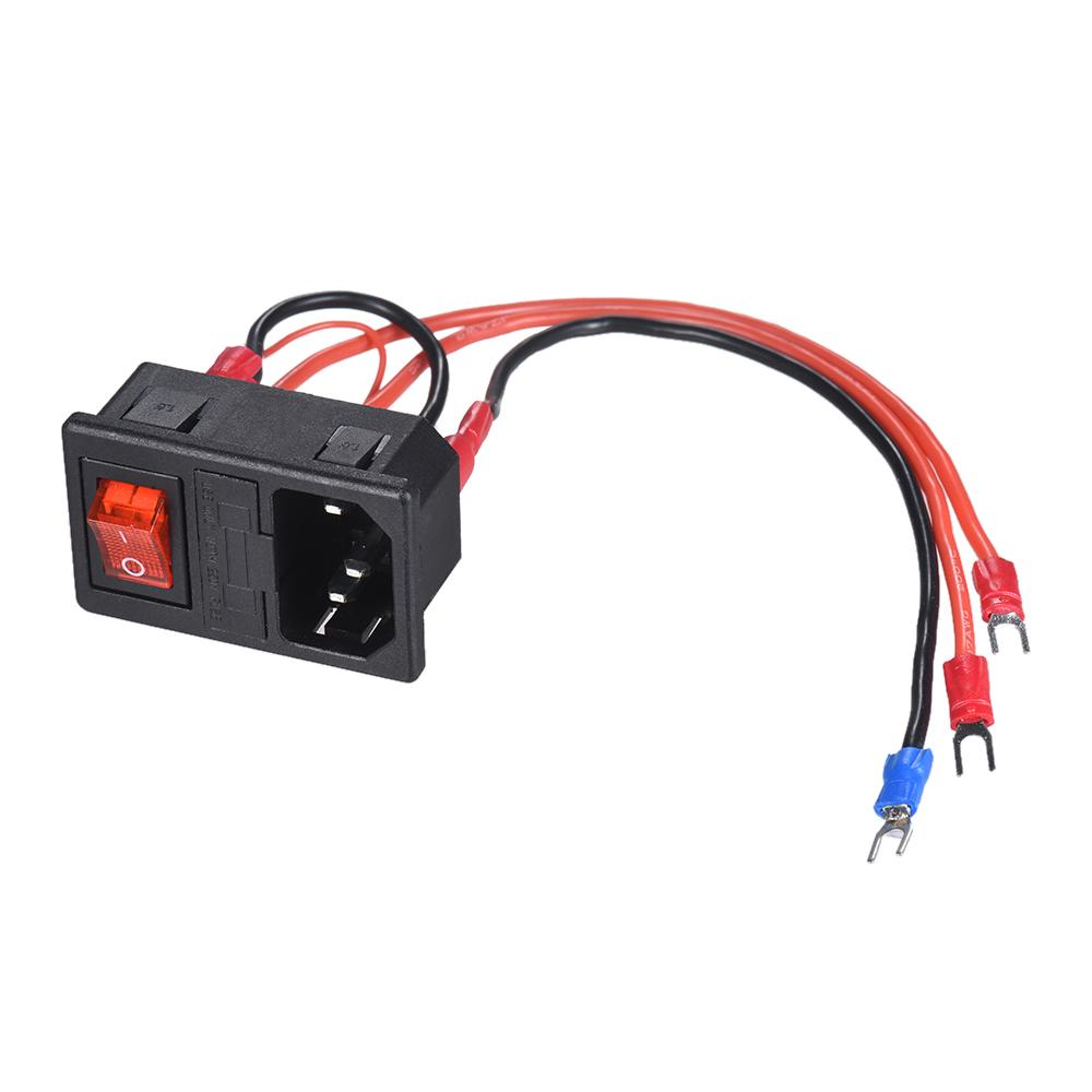 AC Power Outlet Socket Fuse  220V//110V AC Power Supply Switch for 3D Printer A2