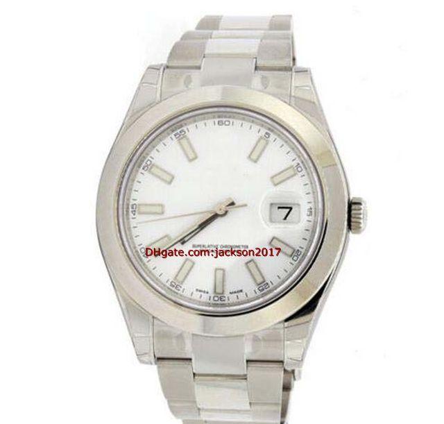 Navidad de regalo de alta calidad pulsera del reloj para hombre del MENS SS II palillo blanco DIAL los 41MM LISA BISEL 116300