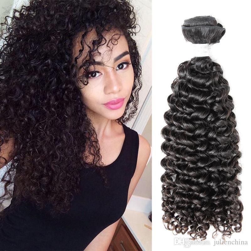 1pc free shipping High Quality Brazilian Curly Human Hair Weaves 9A 10-22 inch Natural Color Human Hair Extensions Julienchina Bella Hair