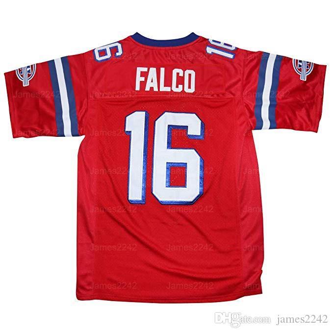 SHANE Falco # 16 Der Ersetzungsfilm MEN Football Jersey Nähte Rot S-3XL Hohe Qualität Freies Verschiffen