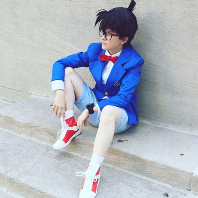 Conan Edogawa costumi cosplay giapponese anime Detective Conan, caso chiuso abbigliamento Masquerade / Mardi Gras / costumi di Carnevale