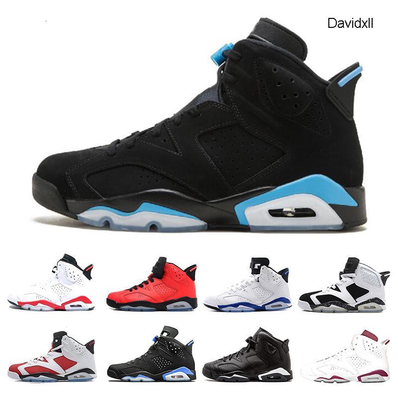 New designer 6 6s Alternate Angry bull Black Cat Carmine Basketball Shoes Mens Oreo high White Infared Sport Blue UNC Sneakers size 7-13
