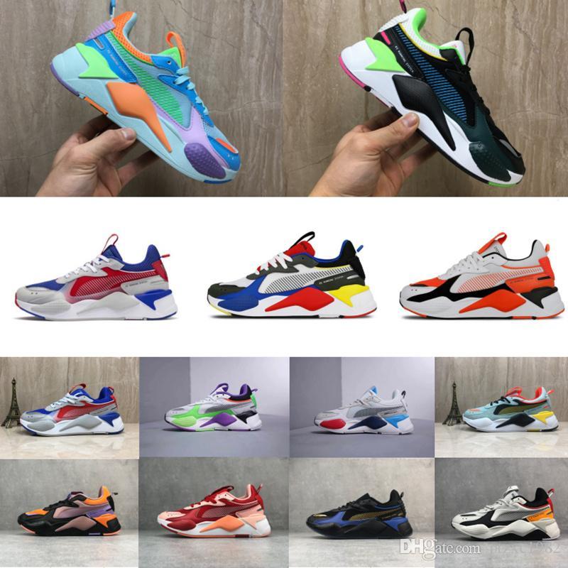 Baratos RS-X Zapatos casuales para hombre del negro fresco de los diseñadores de moda enredaderas padre hombre de alta calidad mujeres corrientes de los deportes zapatillas de deporte del instructor 36-45
