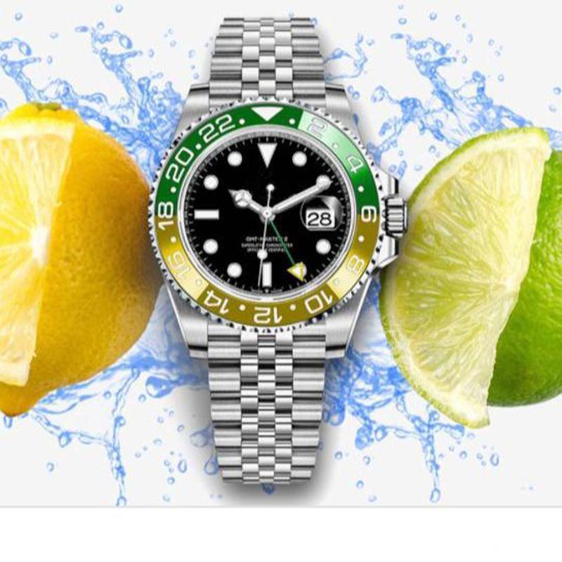 Relógio mecânico automático de 2020 Top V3 Homens Relógios GMT aço inoxidável cerâmica Sapphire vidro sólido fecho Men Relógios de pulso Relógios