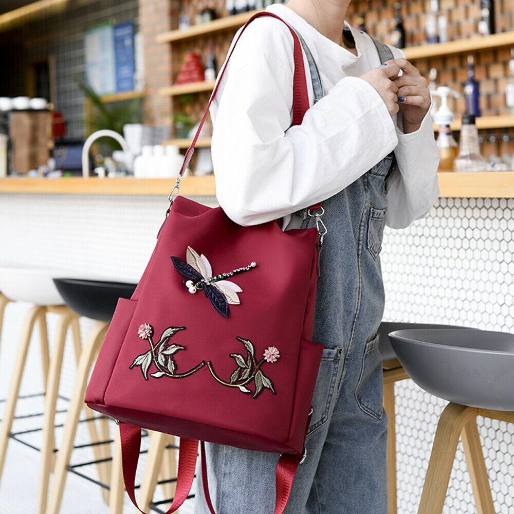 Мода китайский стиль вышивка 3D узор рюкзаки противоугонные женщины рюкзак