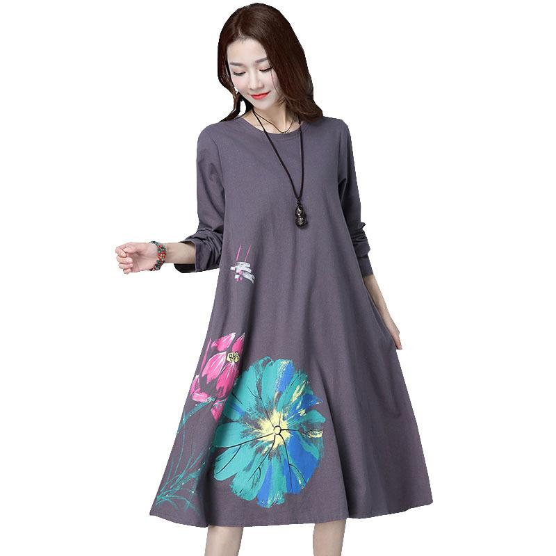 Long Sleeve Maternity Dress Loose Large Size Clothes For Pregnant Women Dresses Casual O-neck Pregnancy Dress 2019 Autumn New S200107