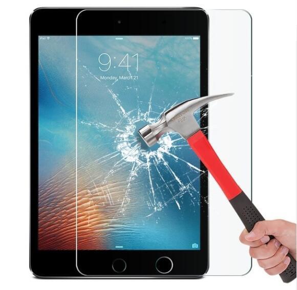 Vidro moderado para o iPad 1 2 3 Air1 Ar2 AIR3 Mini3 Mini5 Pro 9.7 10.5 Tela Protector Film Guarda Tablet