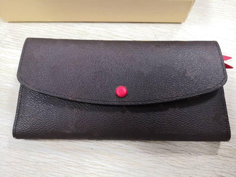 Atacado padrão clássico carteira moda bolsa longa moneybag bolsa com zíper multicolor moeda bolso data código nota embreagem compartimento 60136