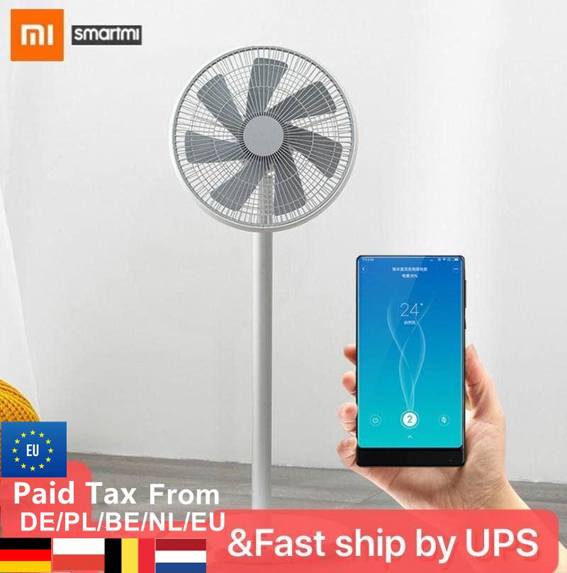 XIAOMI MIJIA SMARTMI Standing Floor Fan 2 2S DC Pedestal Standing portable Fans Rechargeable Air Conditioner Natural Wind