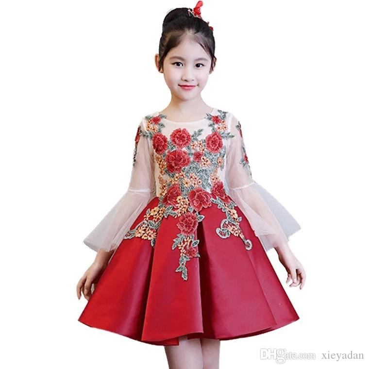 2019 Kids Girls Flower Girl Dresses For Children Wedding First Communion  Dresses Formal Party Prom Dress Plus Size From Xieyadan, $43.45 | DHgate.Com