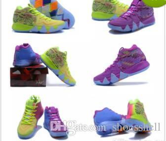 4s Kyrie IV Lucky Charms Men Basketball Shoes Top Quality Irving 4 Confetti Color Green Designer Trainers Sneakers Free Shipping Size 40-46