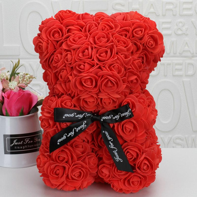 "15/"" Red Rose Bear Flower Teddy Foam Wedding Birthday Valentine/'s Day Gift Pink"