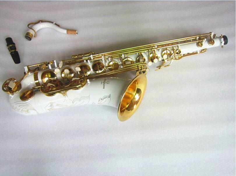 Best quality White Gold Key Tenor Yanagisawa T-992 Tenor Saxophone in B Flat Tune musical instruments Professional performance Sax Gift