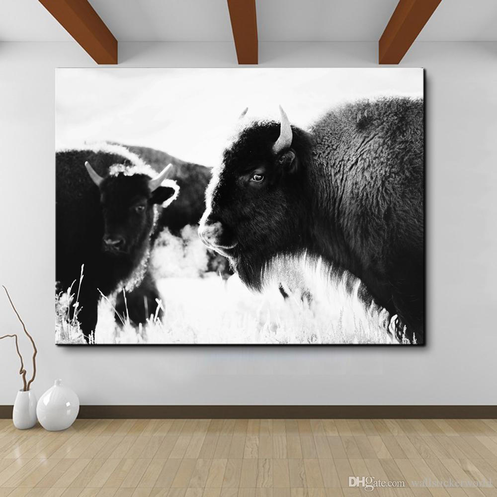1 Piece Wall Art Freedom Highland Cow Print and Poster, Cattle Canvas Art Paintings for Living Room Decor Wall Decoration No Framed