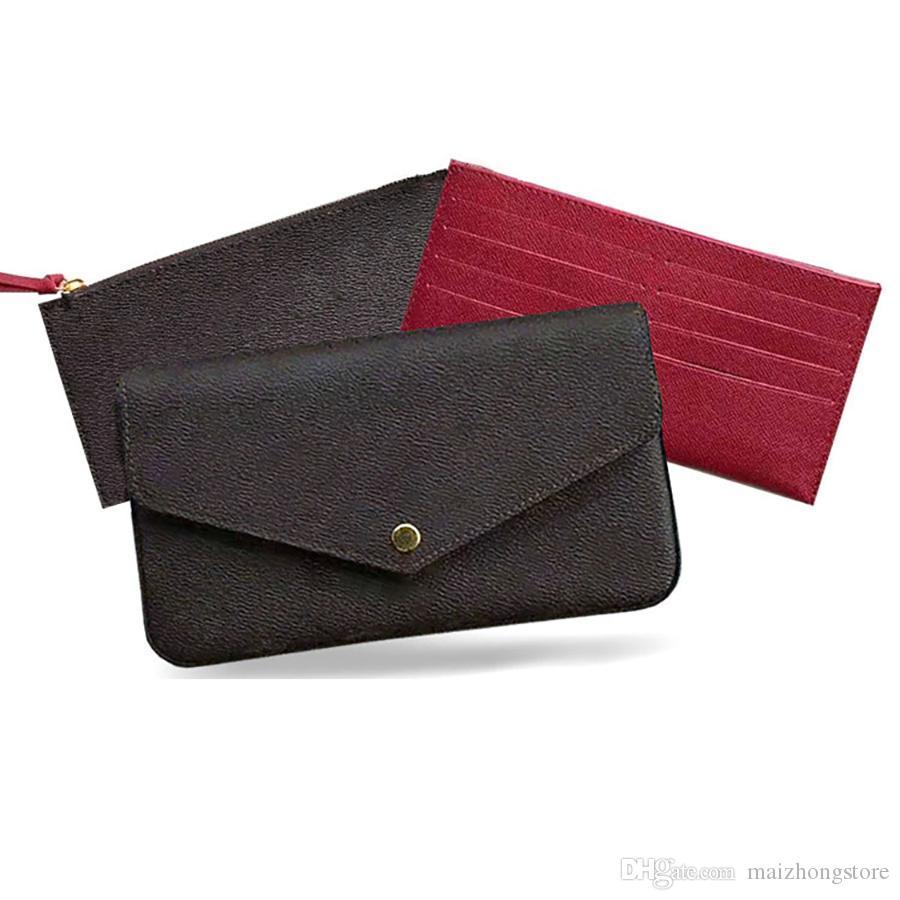 Evening bags 3 pcs chain shoulder clutch wallets handbag purses women wallets shoulder bag ladies chain shoulder leather bag with box