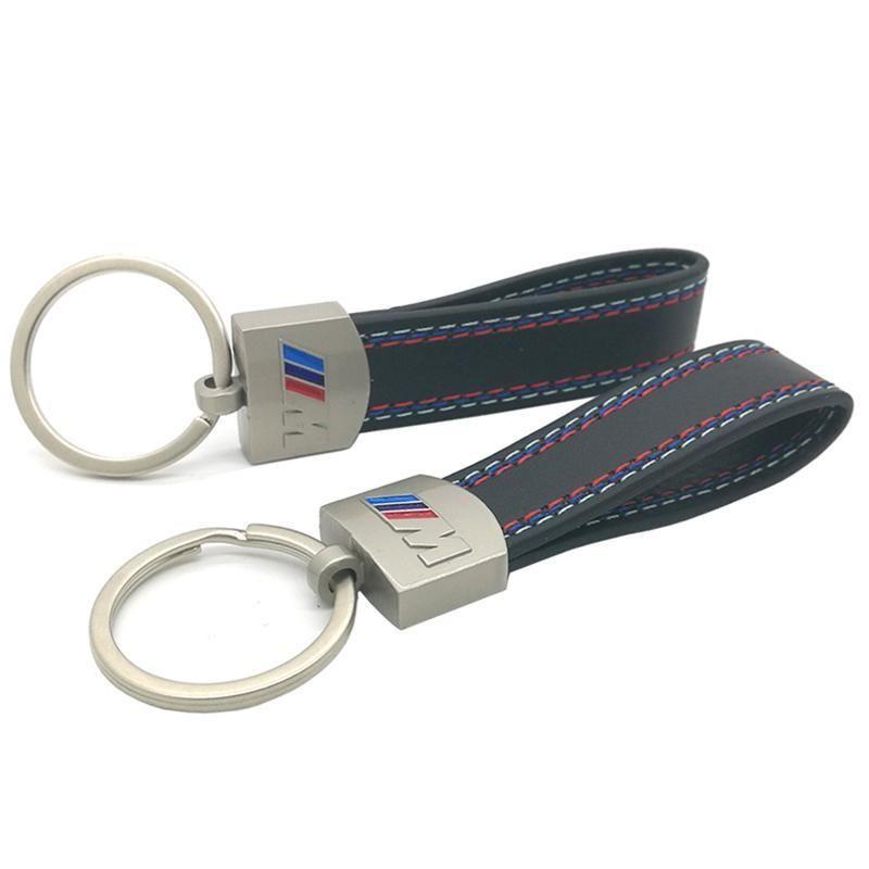 السيارات سيارة Fashoin المعادن والجلود سلسلة المفاتيح مفتاح سلسلة مفتاح حلقة حلقة مفاتيح لسيارات BMW M تكنولوجيا M الرياضية M3 M5 X1 X3 001