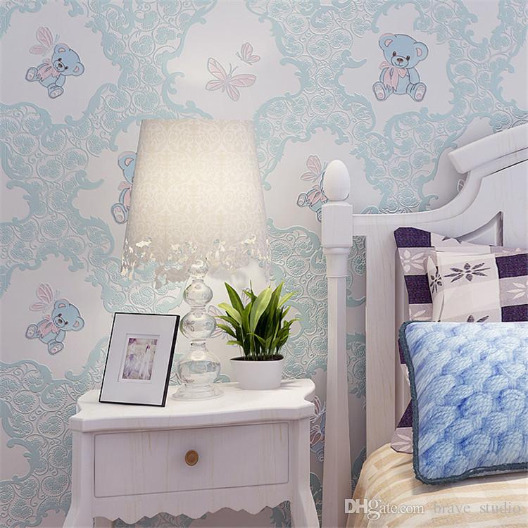 China environmental friendly kids room 3d children wall paper home decoration wallpaper for kids room wholesale