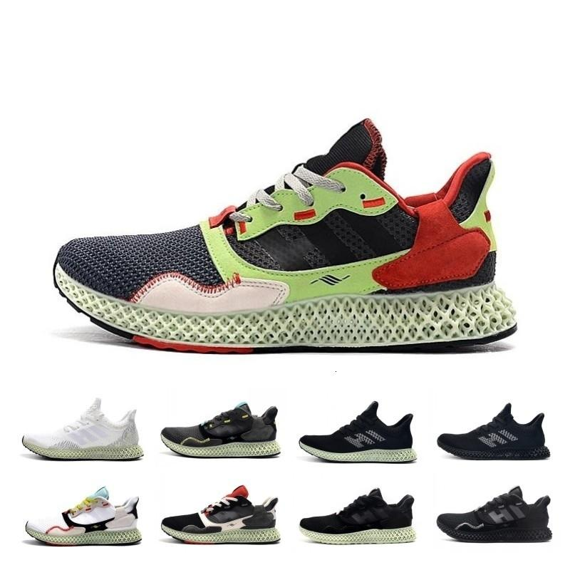 Drop Shipping Hender Scheme Soft Ash Green Mens Zx 4000 Futurecraft 4d Running Shoes Trainers Zx4000 Carbon Male Sports Trainer Sneakers