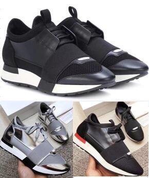패션 운동화 남성 여성 캐주얼 신발 정품 가죽 상자 큰 크기 35-47 야외 트레이너를 지적 레이스 러너 신발 메쉬