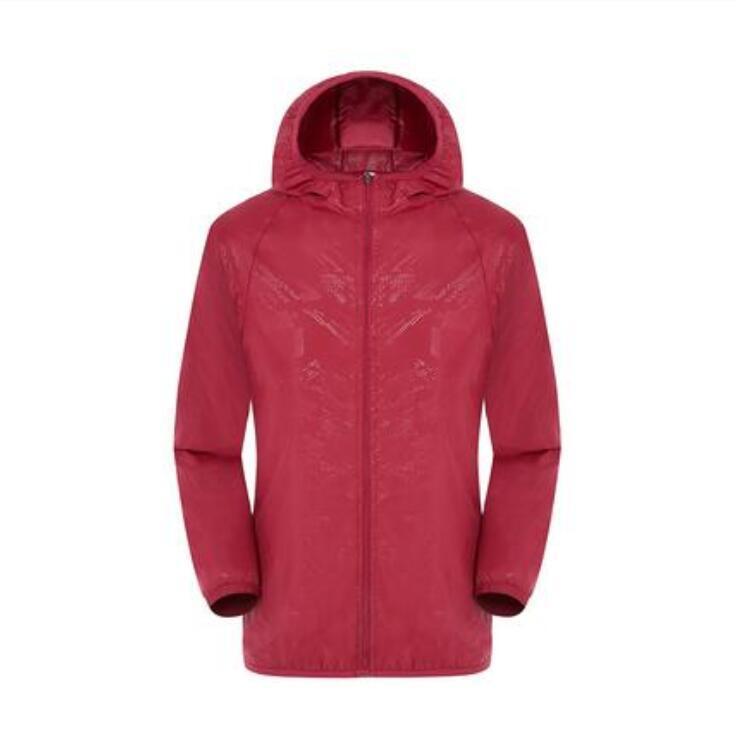 libera la nave delle donne di estate degli uomini di marca Rain Jacket casuale cappotti esterna con cappuccio antivento e impermeabile protezione solare viso Cappotti