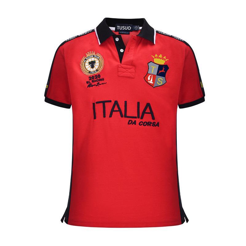la mode t-shirt marque de course coton de haute qualité revers polo masculin cheval décontracté polo pur coton