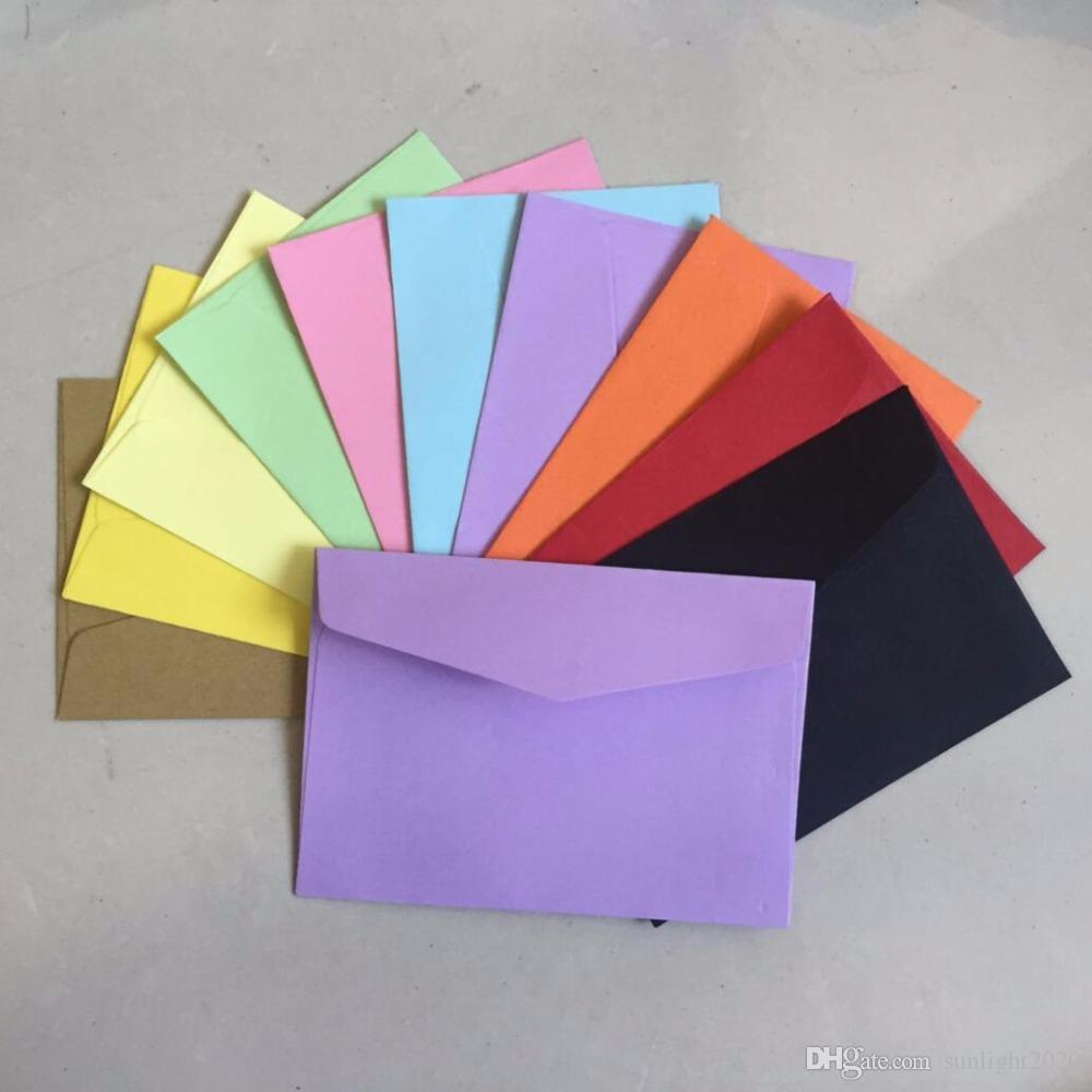 10 لون مغلفات فارغة 115x82mm مغلفات بطاقة البنك بطاقة البسيطة مغلفات بطاقة العضوية