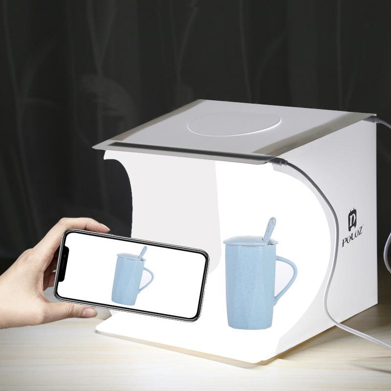 onsumer إلكترونيات البسيطة استوديو الصور للطي صندوق الصور التصوير الفوتوغرافي Softbox 2 لوحة LED ضوء لينة صندوق صورة خلفية مربع كيت الخفيفة ل...