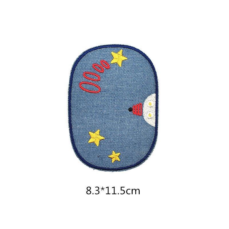 12types Space Planet Астронавт Iron заплат Вышитые Motif аппликация украшения пришить нашивки Пользовательские патчи для DIY джинсы, куртки