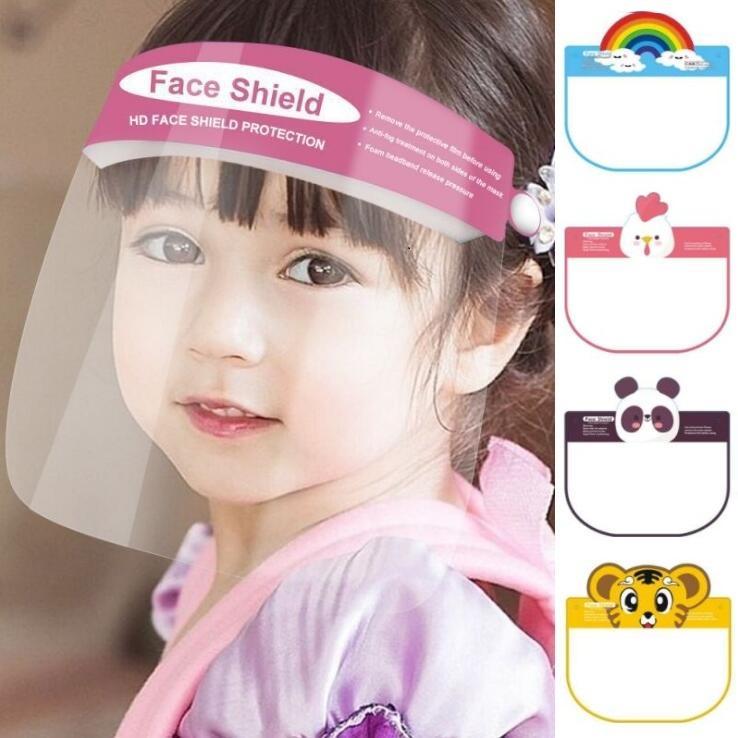Kinder Cartoon Face Shield Maske 12 Designs PET Anti-Fog-volle Gesichts-Abdeckung Isolierung Visier Anti-Spucken Sicherheit Kids Party Mask