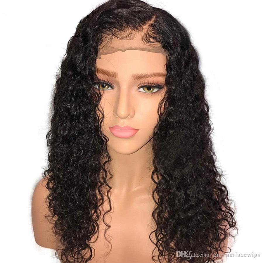 브라질 레미 인간의 머리카락 Glueless 레이스 프론트 가발 150 % 밀도의 자연 가발 곱슬 레이스 가발