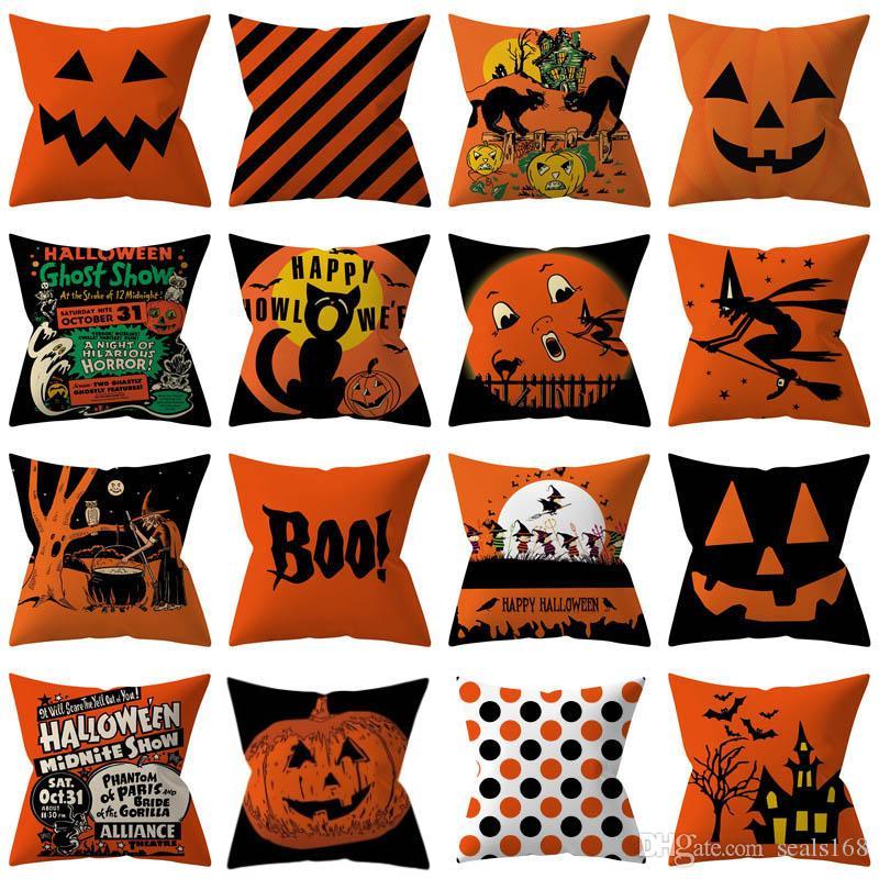 32 Arten Halloween Kissenbezüge Abdeckung Dekokissen Kissen Kissenbezug Abdeckung Für Gestreifte Dot Hause Auto Dekoration Weihnachten HH9-2282